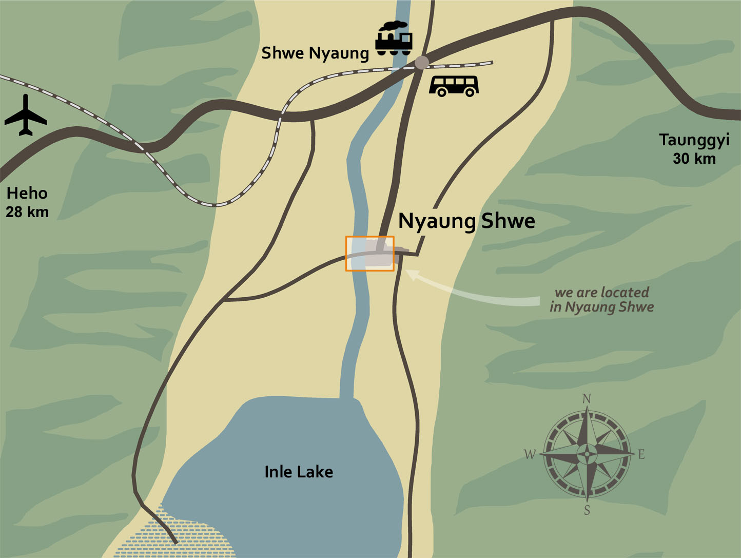 La Maison Birmane Boutique Hotel Nyaung Shwe Inle map
